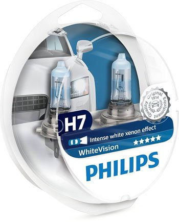 LED Auto - Philips-12972WHVSM-WhiteVision-Effetto-Xenon-H7