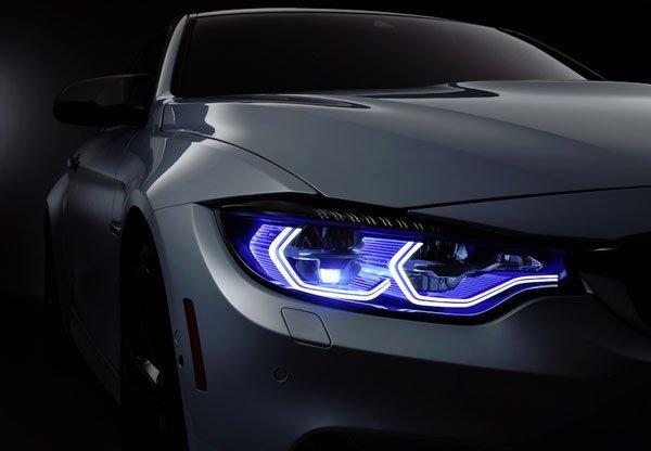 LED-auto-colore-blu