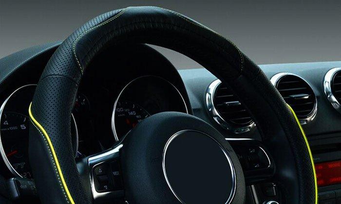 Coprivolante Grande Punto Fiat universale simil pelle volanti per copri sterzo